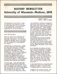 History Newsletter 1979