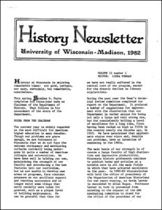 History Newsletter 1982