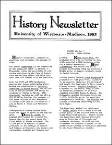 History Newsletter 1983
