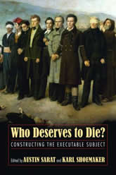 Bookcover - Who Deserves to Die?: Constructing the Executable Subject