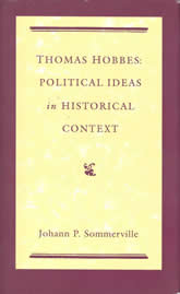 Bookcover - Thomas Hobbes: Political Ideas in Historical Context