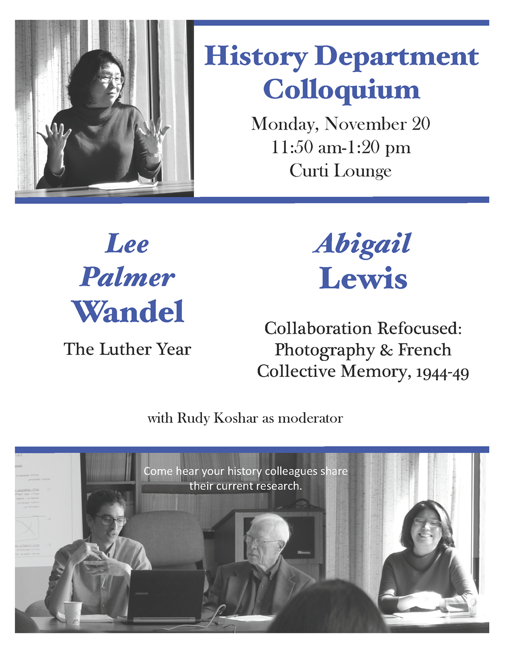 Event Poster: Department Colloquium