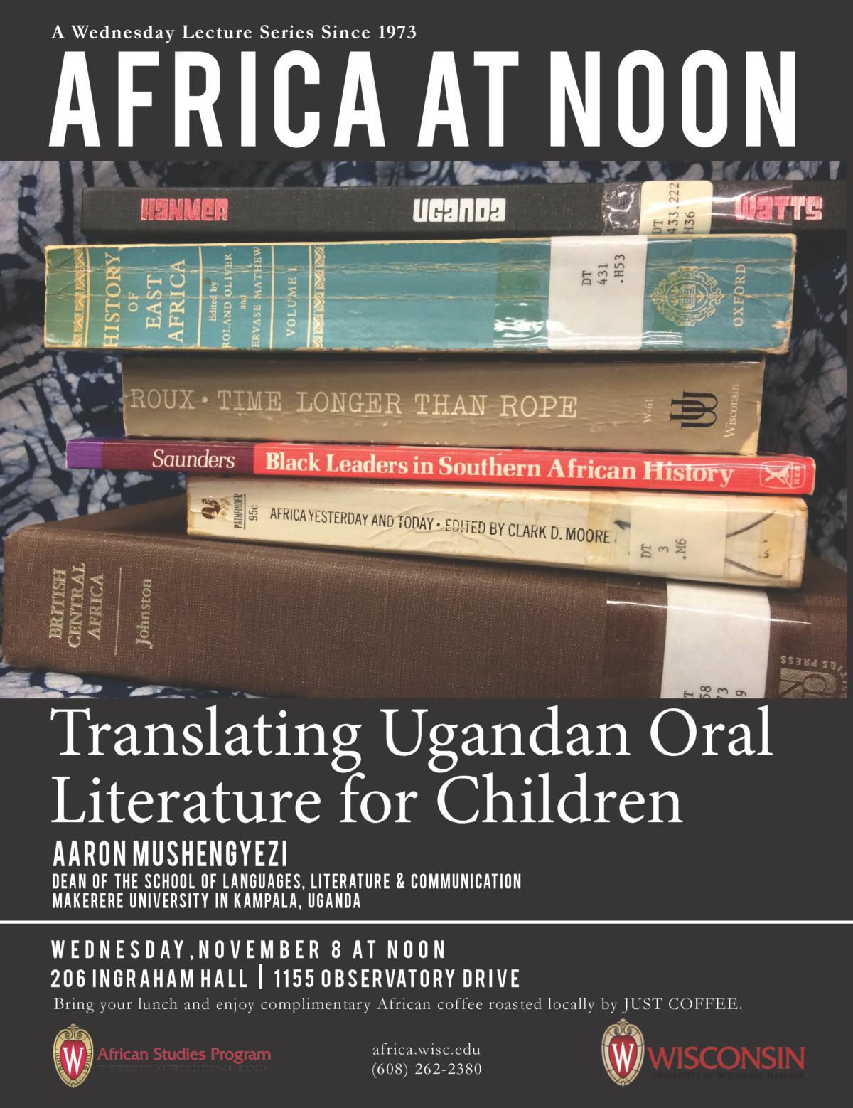 Event Poster: Aaron Mushengyezi