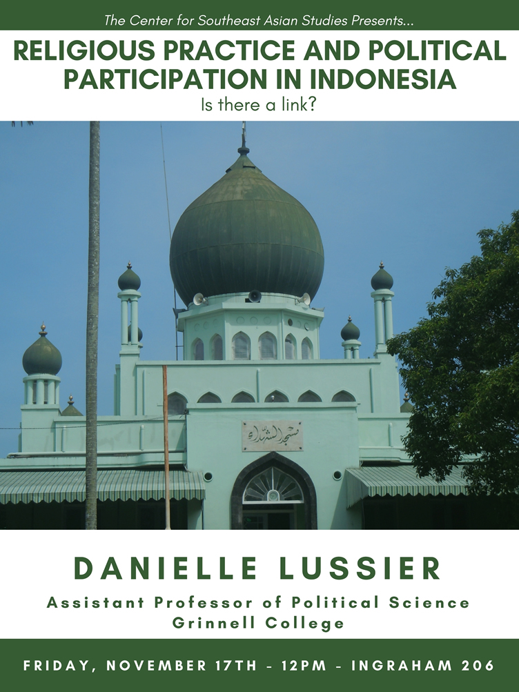 Event Poster: Danielle Lussier