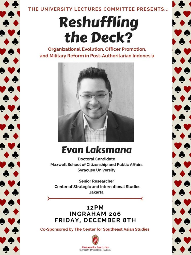 Event Poster: Evan Laksmana