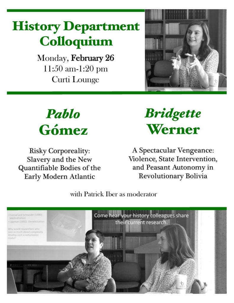 Event Poster - Department Colloquium