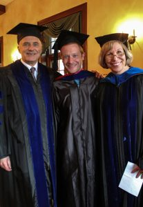 John Boonstra with Professors Laird boswell and Mary Louise Roberts