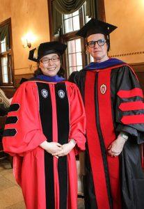 Hye Eun Choi with Prof. Colleen Dunlavy