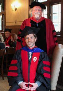 Nicholas Jacobson with Professor Emeritus Michael Shenk