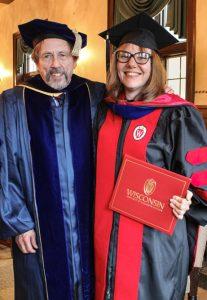 Erin Kramer with Professor Emeritus Charles Cohen
