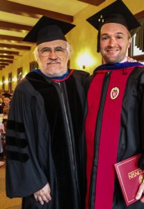 Nicholas Strohl with Prof. William Reese