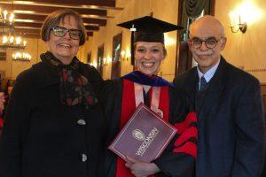 Bridget Werner with Professor Emeriti Florencia Mallon and Steven Stern